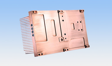 Copper heatpipe heat sink